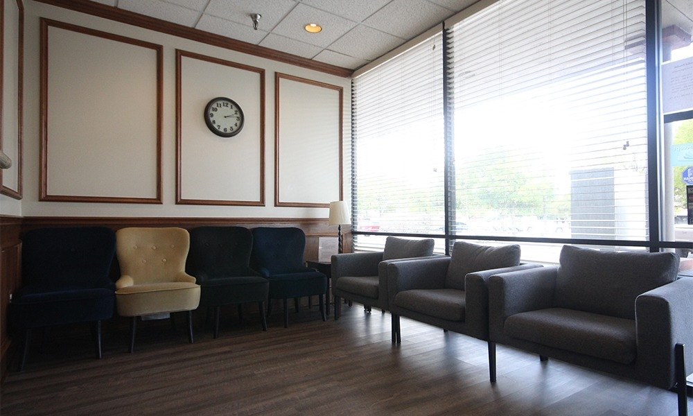 Cozy seating in waiting room